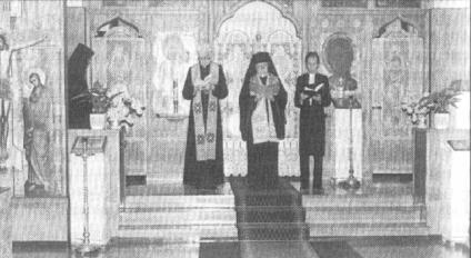 Ecumenical prayer of the New Valaam monastery. Finland, 1987.