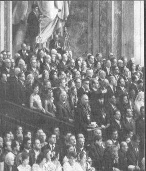 The Third World Congress of the Roman-Catholic Lay Apostolate in Rome (11 - 18 October, 1967). Observers enclosure in St. Peter's Cathedral during the mass celebrated by Pope Paul VI. First row second from left - Bishop Yuvenaly of Zaraisk. Both representatives of the MP-KGB were the only participants in this forum in the clerical rank. Photo from JMP, 1967, # 12.